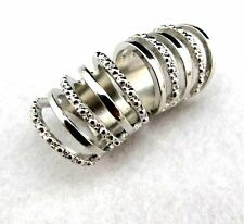 Vintage Art Deco style cutout open ring of rings 2 colours