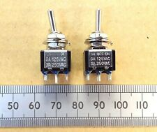 Toggle Switch DPDT and DPDT CO Centre Off, 3A 250VAC Silver Plated Contacts