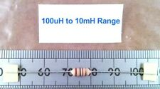 Qty 5 : Ferrite Cored High Q RF Coil / Inductor, Inductance Range 100uH to 10mH