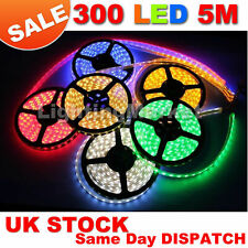 5M 3528 SMD 300 LED LIGHT STRIP COOL/WARM WHITE/RED/BLUE/GREEN/PINK PARTY 12V