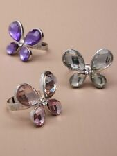 Schmetterling Finger Ring Schmetterlingsring Strass bunt verstellbar NEU