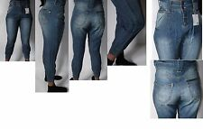 women's brand new high waisted  baggy harem style ankle cuff leg jeans size 4-18