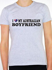 I Love My Australian Boyfriend - Womens Novelty T-Shirt - Various Sizes