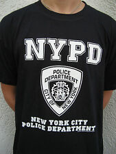 T-Shirt NYPD Polizei Police Department New York Hemd blau