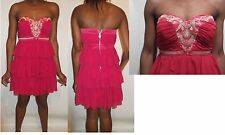 lipsy pixie lott pink gold jewel layer bandeau embellished dress uk size 10-12