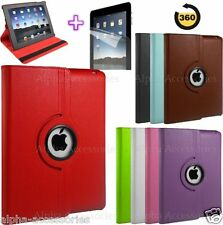360 Degree Rotatable Leather Stand Case Cover For New iPad 4 / 3 / 2 Sleep Awake