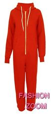 NEW ADULT UNISEX HOODED ZIP ONESIE CUFFED BOTTOM  FULL ONE PIECE JUMPSUIT  S-XL