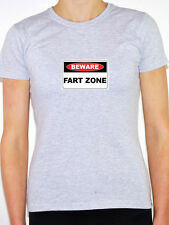 BEWARE FART ZONE - Humorous / Fun / Rude / Joke Themed Womens T-Shirt