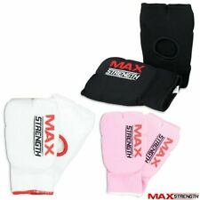 MAXSTRENGTH® Karate Mitts Elasticated Cotton Martial Arts Boxing MMA Training Gy
