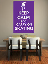Keep Calm and Carry On Skating - Skateboard Themed - Wall Art Design/Transfer.