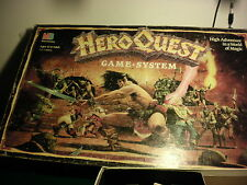 US Hero Quest Game System cards, questbook, tiles, components  Heroquest USA