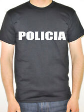 POLICIA - Portuguese / Spanish / Police / Novelty / Fun Themed Mens T-Shirt