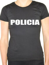 POLICIA - Portuguese / Spanish / Police / Novelty / Fun Themed Womens T-Shirt
