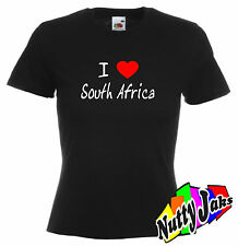 I Love Heart South Africa Womans/ Ladies Fitted T-Shirt