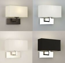 Astro Park Lane Medium wall light bronze matt nickel polished nickel white shade