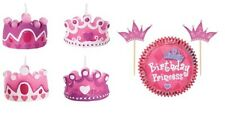 Wilton Pink Princess Theme Cake Candles Cupcake Combo Baking Cups & Picks NEW