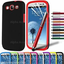 Stylish Hard Back + Silicone Skin Case Cover For Samsung Galaxy S3 SIII i9300