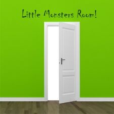 LITTLE MONSTERS ROOM wall sticker sign boy bedroom wall decal for kids