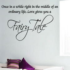 LOVE GIVES YOU A FAIRY TALE quote wall sticker bedroom kids wall decal