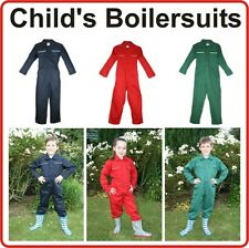 KIDS BOILERSUIT COVERALL BOILER SUIT CHILDS CHILDRENS BOYS GIRLS