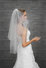 New 2T White / Ivory Wedding Bridal Elbow Length Veil with Comb - Diamante