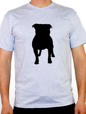 STAFFORDSHIRE BULL TERRIER SILHOUETTE - Dog / Staffie / Pets Themed Mens T-Shirt