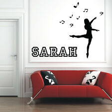 MUSIC AND DANCE personalised wall decal for girls bedroom wall sticker