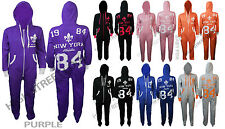 NEW WOMENS UNISEX ALL IN ONE COLORS 1984 NEW YORK ATHLETIC JUMPSUIT ONESIE PRINT