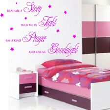 NURSERY BABY QUOTE LARGE KISS GOODNIGHT WALL STICKER TRANSFER decal vinyl