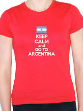 KEEP CALM AND GO TO ARGENTINA - Argentinian / Novelty/ Fun Themed Womens T-Shirt