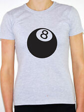 NO 8 POOL BALL / Snooker / Cue / Game / Sport / Novelty Themed Womens T-Shirt