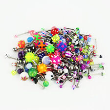 110pcs Wholesale Body Jewelry Eyebrow Navel Belly Tongue Nose Piercing Bar Ring