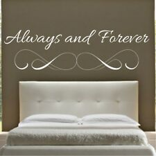 ALWAYS AND FOREVER wall quote bedroom sticker art decal stickers lounge vinyl