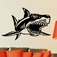 Great White Shark wall sticker large fish transfer cartoon bathroom art vinyl