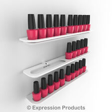 x3 Nail Polish Display Holders, Wall Mount Nail Varnish Stand for 30 Bottles