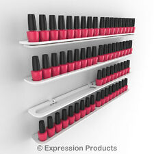 x4 Nail Polish Display Holders, Wall Mount Nail Varnish Stand for 72 Bottles