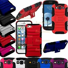 Hybrid Heavy Duty Armour Stand Case Cover For iPhone 5S, 5, 4S, Galaxy S3, S5