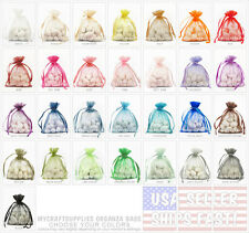 "100 Organza Favor Bags, 3"" x 4"": Wedding Favor Gift Bags, Premuim, USA Shipper"