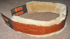 FRANK BAINES WALSALL English Leather Velcro SHEEPSKIN Atherstone Elastic Girth