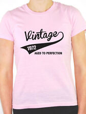 VINTAGE 1972 AGED TO PERFECTION -Birth Year/Birthday Gift Themed Women's T-Shirt