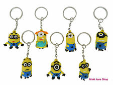 Despicable Me Minions 3D Rubber Charms Metal Key Rings - NEW - Buy More & Save