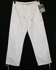 New Women's Wrangler River Jeans Trousers Regular Fit White New Draw String Pant