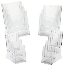 Leaflet Holder A4 A5 Multi Pocket Table Top Display Retail Shop Plastic Perspex