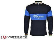 Vangard Retro Wool Cycle Bike Jersey Long Sleeve Short Zip 3 Sizes VAN7601