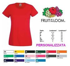 T-SHIRT COTONE 165 GR FRUIT OF THE LOOM PERSONALIZZATA