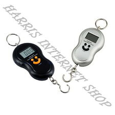 Portable Digital Fishing Luggage Weighing Mini LCD Hanging Scale for up to 40 KG