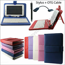Keyboard Leather Book Cover Stand for Samsung Galaxy Tab 2 P3100 + USB + Stylus