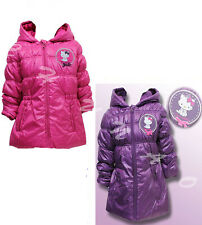 BRAND NEW GIRLS PINK/ PURPLE HELLO KITTY WINTER PUFF COAT SIZE AGE 3,4,6,8 YEARS