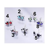 1 Pair Fashion Cute Fish Jewelry Crystal Ear Stud earring