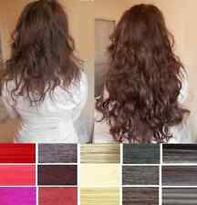 Full Head Straight Wavy Clip In Hair Extension Long ponytail Extensions Colours